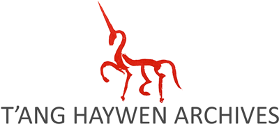 Painted red unicorn - The T'ang Haywen Archives Logo