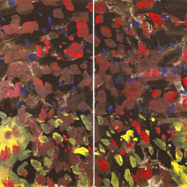 無題,1968-69年,混合媒體 Kyro卡紙,雙聯作