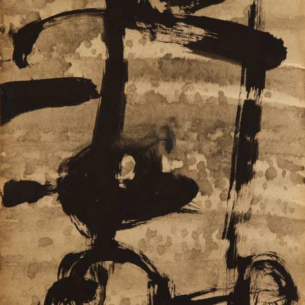 無題,1966年,水墨 Kyro卡紙