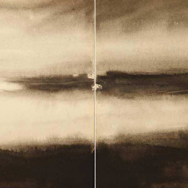無題,1967-68年,水墨 Kyro卡紙,雙聯作