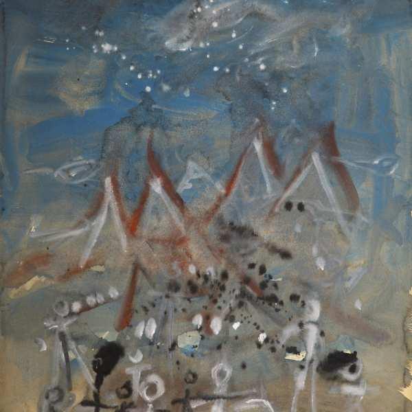 無題,1970年,水彩 水墨 卡紙