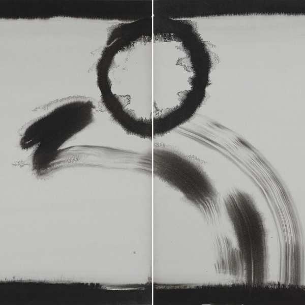 無題,1974-76年,水墨 Kyro卡紙,雙聯作