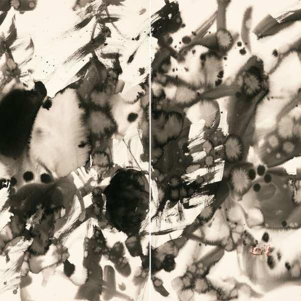 無題,1980年,水墨 Arches紙本,雙聯作