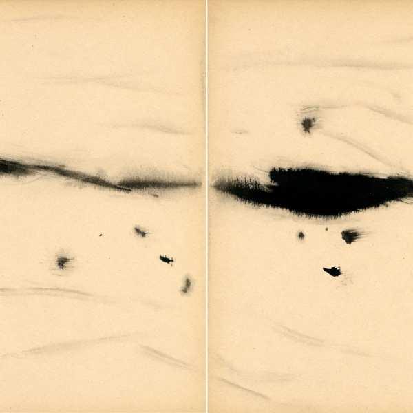 無題,約1968年,水墨 Kyro卡紙,雙聯作
